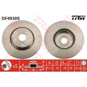 TRW AUTOMOTIVE DF4930S Гальмівний диск