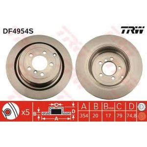 TRW DF4954S Диск гальмівний LAND ROVER Rang Rover \R \02>>