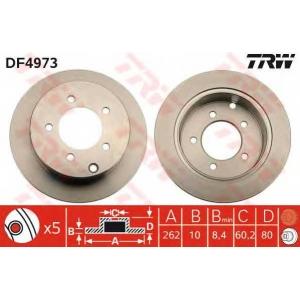 TRW DF4973 Диск тормозной MITSUBISHI LANCER задн. (пр-во TRW)