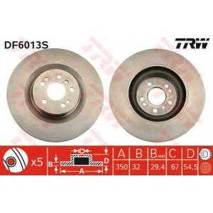 TRW DF6013S Диск тормозной MB GL-CLASS передн., вент. (пр-во TRW)