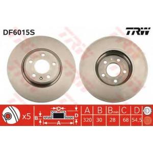 TRW DF6015S Диск гальмівний AUDI A4/A5/Q5 \F \D=320mm \08>>