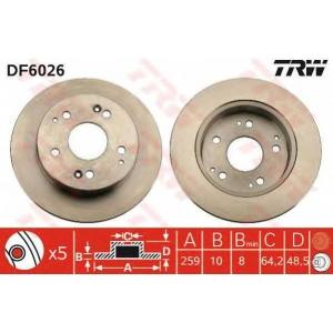 TRW DF6026 Тормозной диск