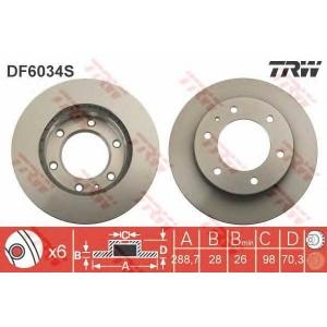 TRW DF6034S Тормозной диск