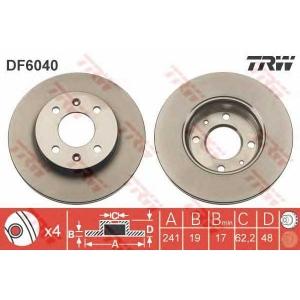 TRW AUTOMOTIVE DF6040 Гальмівний диск