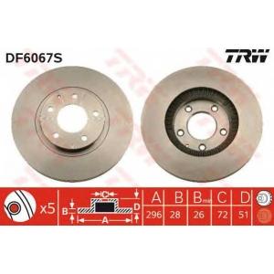 TRW DF6067S Тормозной диск