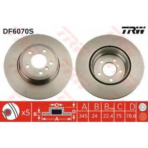 TRW AUTOMOTIVE DF6070S Гальмівний диск
