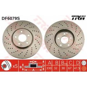TRW DF6079S Тормозной диск