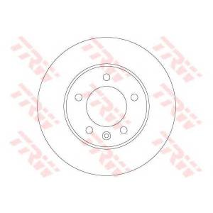 TRW AUTOMOTIVE DF6120 Гальмівний диск