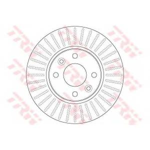 TRW DF6186 Диск гальмівний (комп. 2 шт) MERCEDES/RENAULT Kitan/Captur/Kangoo \F D=258mm \08>>