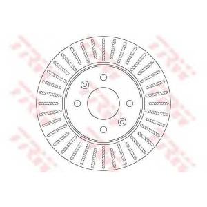 df6198 trw Тормозной диск KIA RIO седан 1.6 CVVT