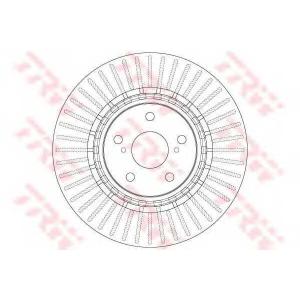 TRW DF6265 Тормозной диск