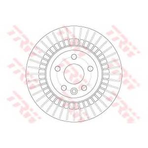 TRW DF6308 Диск тормозн. задн. VOLVO XC60 2.0-3.2 05.08-