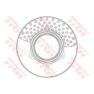 TRW DF6334S DF6334S  TRW - Гальмівний диск