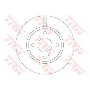 TRW AUTOMOTIVE DF6399 Гальмівний диск