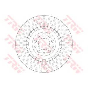 TRW DF6424 Диск гальмівний (комп. 2 шт) FIAT/OPEL 500/Doblo/Combo \F D=305mm \10>>