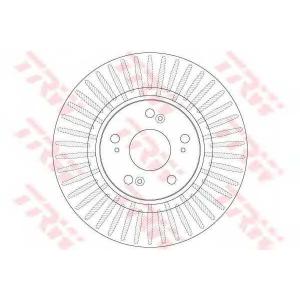 TRW DF6432S Тормозной диск