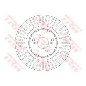 TRW AUTOMOTIVE DF6437 Гальмівний диск