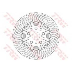 TRW DF6488S Тормозной диск