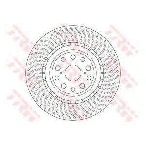 TRW DF6489S Тормозной диск