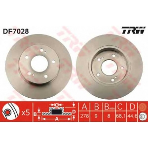 Тормозной диск df7028 trw - NISSAN MAXIMA QX III (A32) седан 2.0