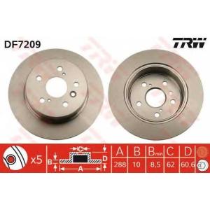 Тормозной диск df7209 trw - LEXUS RX (MCU15, XU1) вездеход закрытый 300 V6