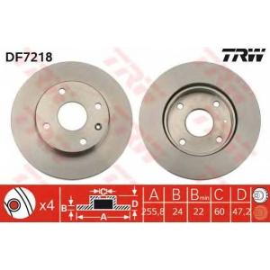 TRW DF7218 Диск тормозной CHEVROLET LACETTI передн., вент. (пр-во TRW)