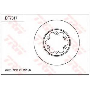 Тормозной диск df7317 trw - TOYOTA HIACE V фургон (H20_) фургон 2.5 D-4D