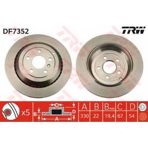 TRW AUTOMOTIVE DF7352 Гальмівний диск