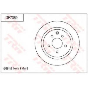 TRW DF7369 Тормозной диск