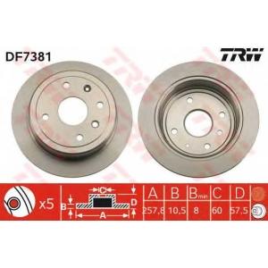 TRW AUTOMOTIVE DF7381 Гальмівний диск