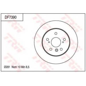 TRW DF7390 диски тормозные
