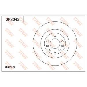TRW DF8043 Диск тормозной передний 320mm