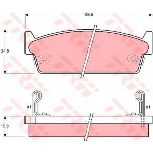 TRW GDB1002 Комплект тормозных колодок, дисковый тормоз Инфинити