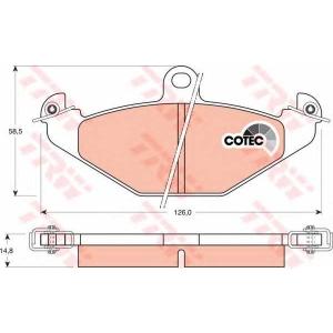 Комплект тормозных колодок, дисковый тормоз gdb1041 trw - RENAULT 21 седан (L48_) седан 2.0 (L483)
