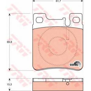 Комплект тормозных колодок, дисковый тормоз gdb1123 trw - MERCEDES-BENZ E-CLASS (W124) седан E 500 (124.036)