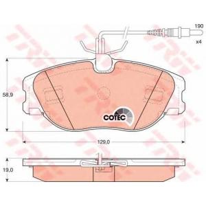 Комплект тормозных колодок, дисковый тормоз gdb1148 trw - PEUGEOT 806 (221) вэн 2.0 Turbo