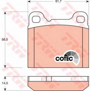 TRW GDB1160 Комплект тормозных колодок, дисковый тормоз