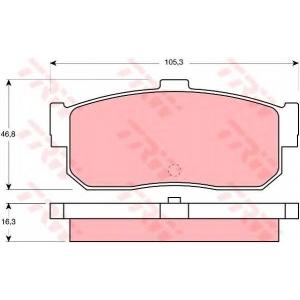 Комплект тормозных колодок, дисковый тормоз gdb1172 trw - AUDI COUPE (81, 85) купе 1.9