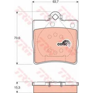 Комплект тормозных колодок, дисковый тормоз gdb1335 trw - MERCEDES-BENZ S-CLASS купе (C140) купе SEC/CL 500 (140.070)