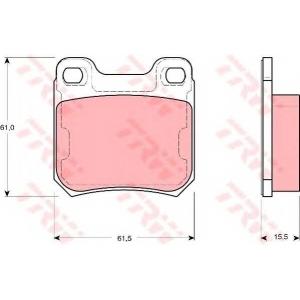 Комплект тормозных колодок, дисковый тормоз gdb1346 trw - OPEL OMEGA B (25_, 26_, 27_) седан 2.0