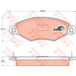 Комплект тормозных колодок, дисковый тормоз gdb1361 trw - PEUGEOT 306 Наклонная задняя часть (7A, 7C, N3, N5) Наклонная задняя часть 1.4