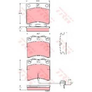 TRW GDB1368 АКЦІЯ!!! Гальмівні колодки дискові VOLKSWAGEN Campmobile/Caravelle/Multivan/Transporter