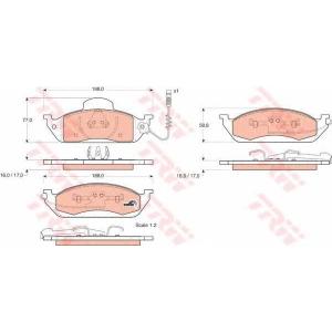 Комплект тормозных колодок, дисковый тормоз gdb1378 trw - MERCEDES-BENZ M-CLASS (W163) вездеход закрытый ML 320 (163.154)