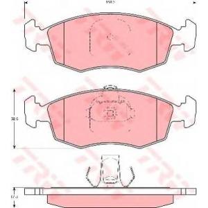 Комплект тормозных колодок, дисковый тормоз gdb1383 trw - FIAT PALIO (178BX) Наклонная задняя часть 1.2