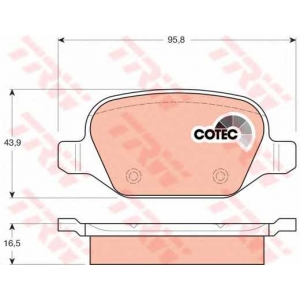 Комплект тормозных колодок, дисковый тормоз gdb1396 trw - ALFA ROMEO GT (937) купе 2.0 JTS