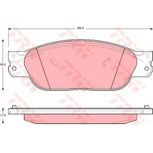 TRW GDB1401 АКЦІЯ!!! Гальмівні колодки дискові JAGUAR - LINCOLN (Ford/USA) S-Type/LS
