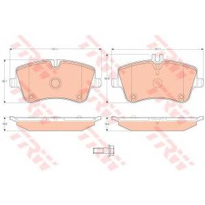 Комплект тормозных колодок, дисковый тормоз gdb1413 trw - MERCEDES-BENZ C-CLASS (W203) седан C 180 (203.035)