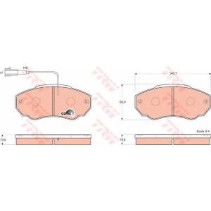 TRW GDB1517 Колодка торм. CITROEN JUMPER, FIAT DUCATO передн. (пр-во TRW)