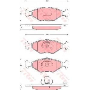 Комплект тормозных колодок, дисковый тормоз gdb1533 trw - FIAT PALIO (178BX) Наклонная задняя часть 1.2
