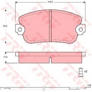 TRW GDB154 Комплект тормозных колодок, дисковый тормоз Лансия
